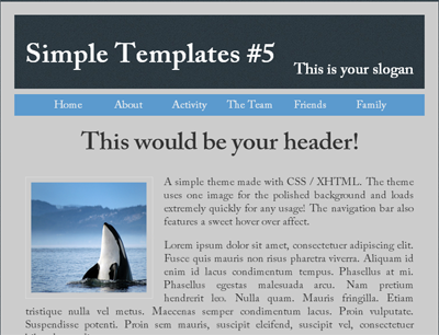 Simple website template 1 for Simple html templates free